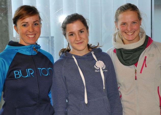 Sind mit der Kinderferienwoche zufrieden: (von links) Ines Göring, Marie Reitz und Christina Willberg. (Foto: Folkerts)